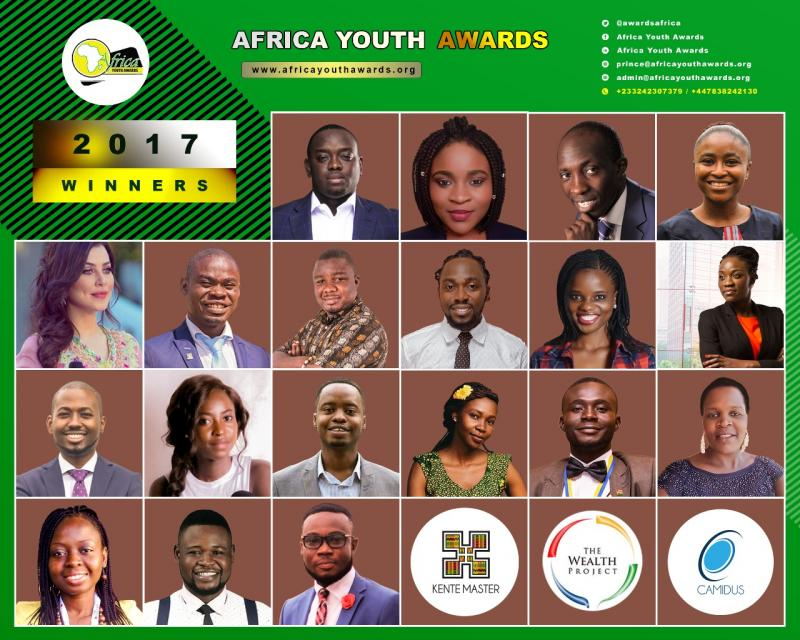 Winners Announced For 2017 Africa Youth Awards