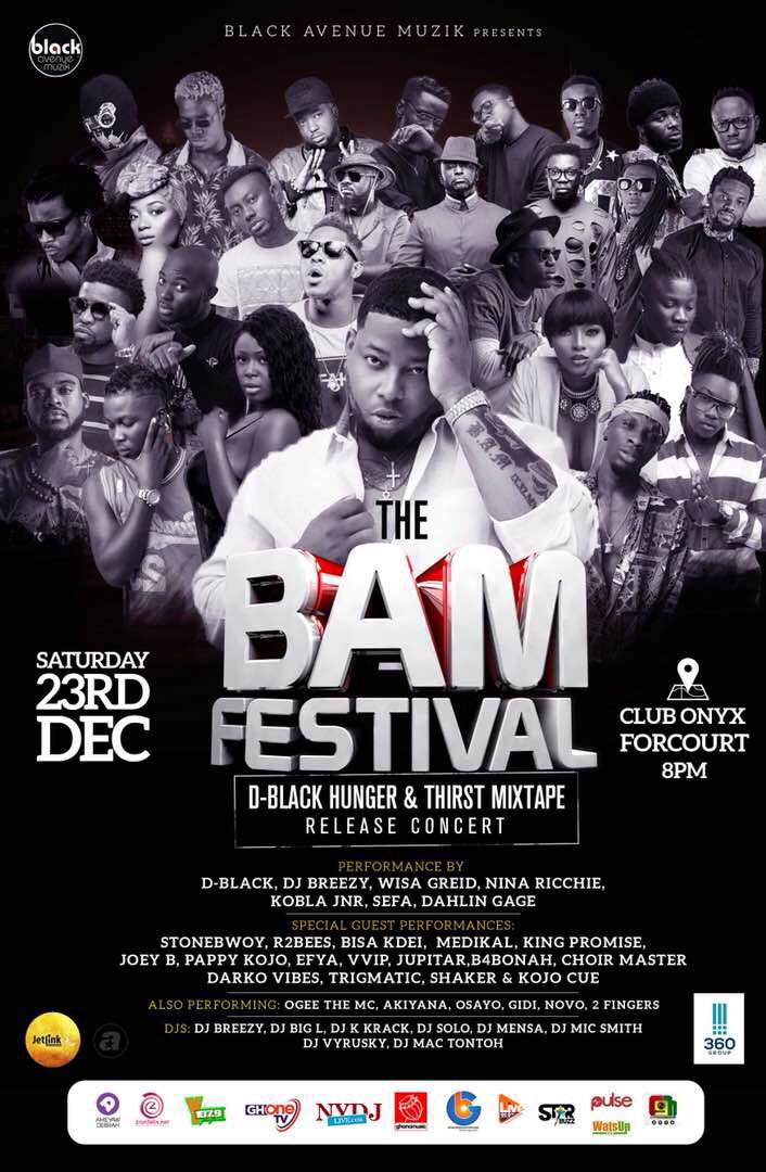 D-Black to host BAM Festival 2017 Stonebwoy, R2Bees, Bisa Kdei,King Promise and more