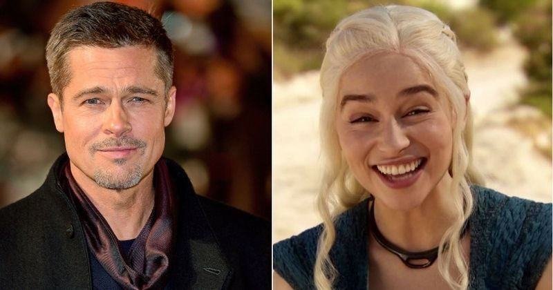 Brad Pitt Bid $120,000 To Watch An Episode Of Game Of Thrones With Emilia Clarke