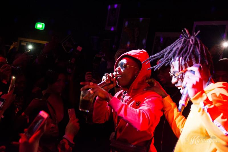 Burna Boy Thrills Fans At Album Release Party In London.