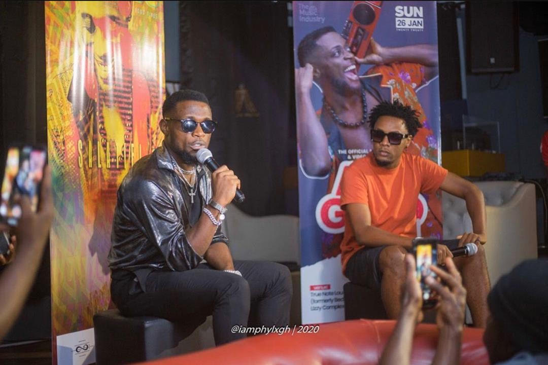 Faisal Carter Aka ChampagneeLee hosts Cameroonian Singer and record producer Salatiel at his meet the press