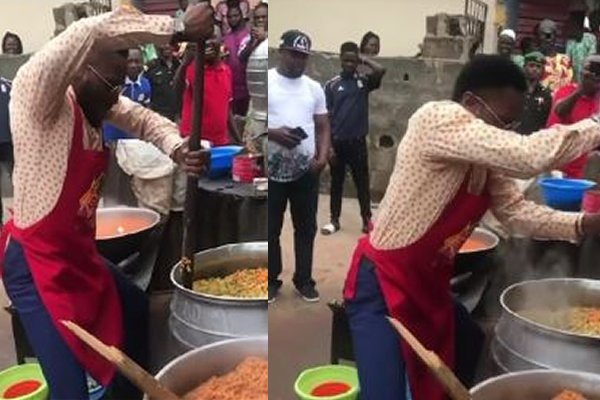 Video/pictures: D'banj cooks in public on his 38th birthday