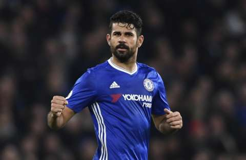 Diego Costa taunts Chelsea and Conte with Atletico shirt