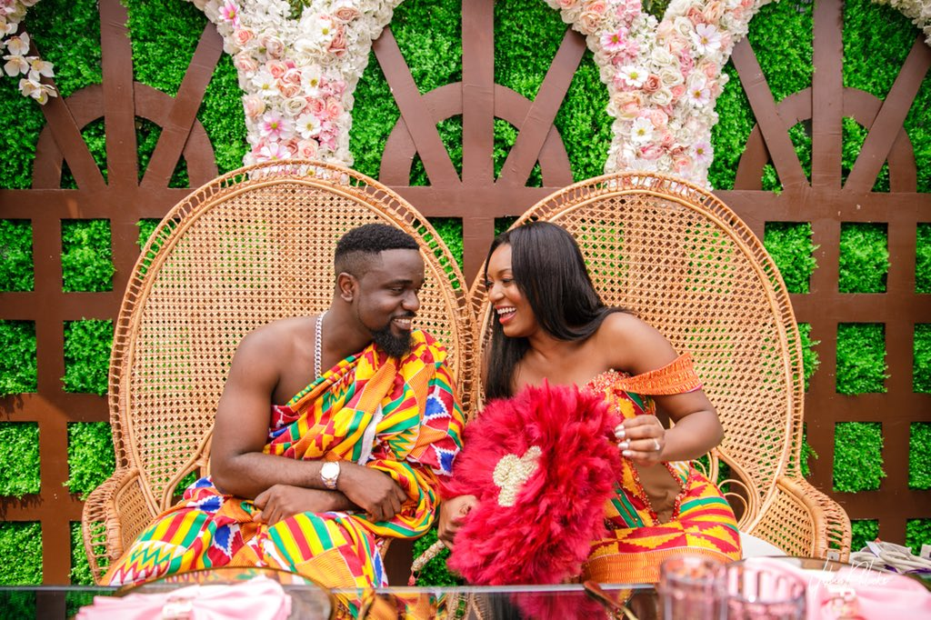photos; sarkodie and tracy lovely wedding moments