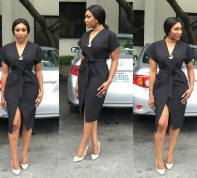 Ebube Nwagbo Steps Out Looking Elegant In Dress With Thigh-high Split