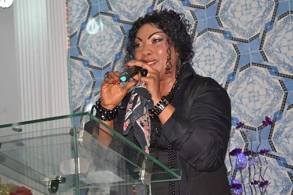Photos: Ini Edo, Rita Dominic, others join Eucharia Anunobi as she buries son