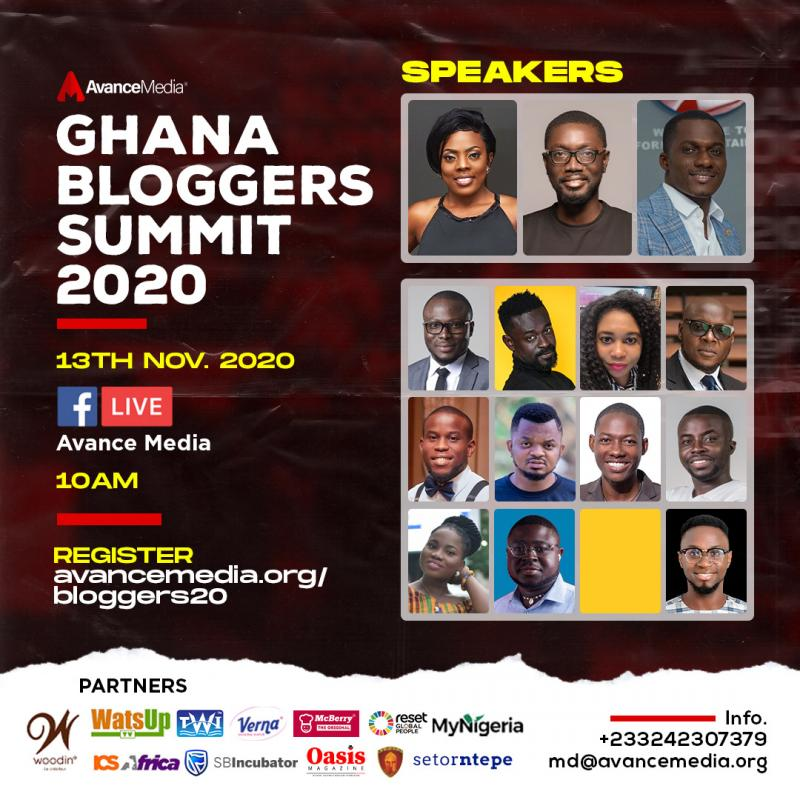 Nana Aba Anamoah, ZionFelix and Ameyaw Debrah to speak at the 2020 Ghana Bloggers Summit.