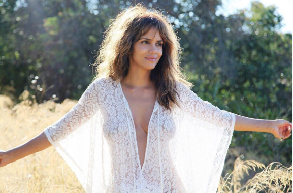 Halle Berry gets almost naked in new photo