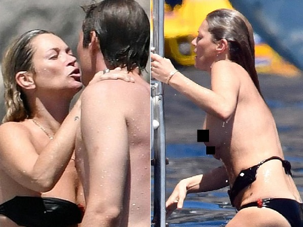 Something Kate moss topless interesting idea