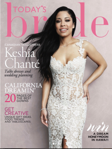 TV personality, Keshia Chanté, calls off her wedding to professional ice hockey star after featuring on bridal magazine