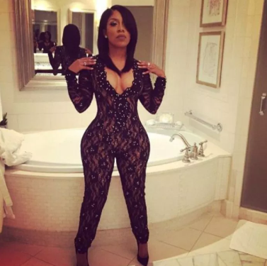 K Michelle unveils slimmer body following surgery to remove her hip and butt implants