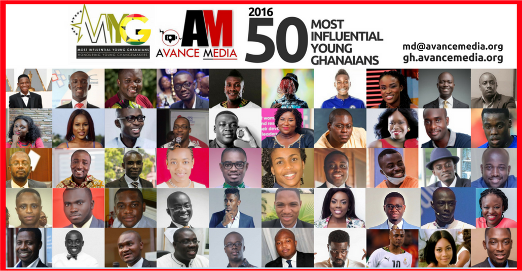 Finalists for 2016 50 Most Influential Young Ghanaians Announced.