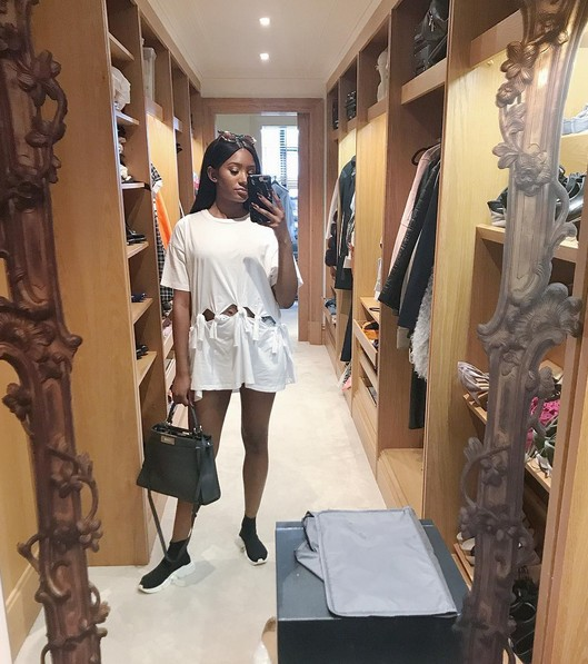 Billionaire Daughter Temi Otedola Shows Off Inside Her Beautiful Closet