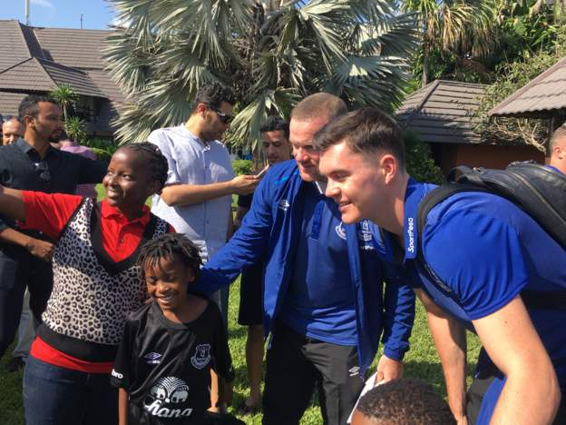 Everton rock into Tanzania with Newly Signed Wayne Rooney