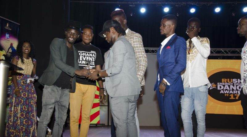 Here are the winners for the maiden edition of the Rush Energy Ghana Dance Awards – 2017