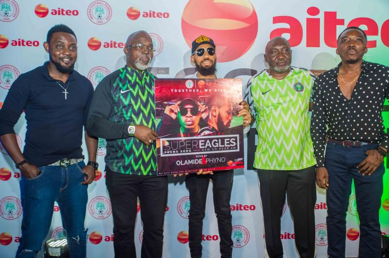 Aiteo's Super Eagles theme song becomes instant hit with fans