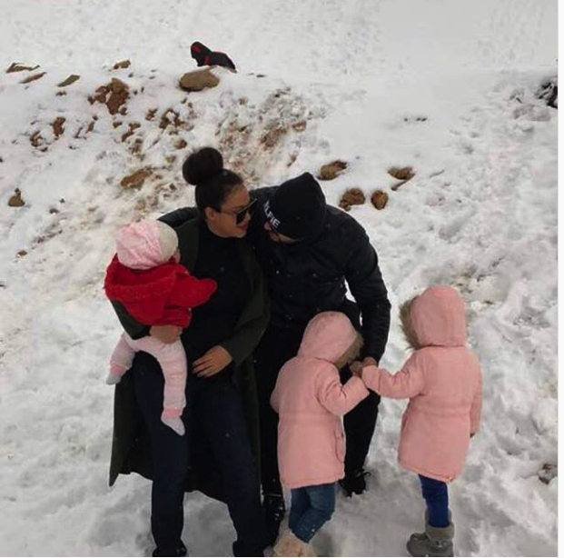 See Nadia Buari and Her Beatiful Daughters And Their Father
