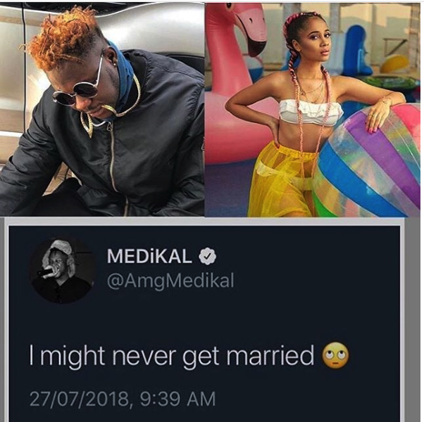 I might never get married – Medikal hints of leaving Sister Deborah?