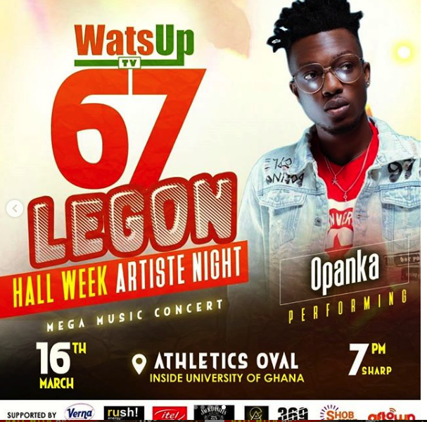 Set Of Artists Performing Live At The WatsUpTV 67th Legon Hall Week Artist Night