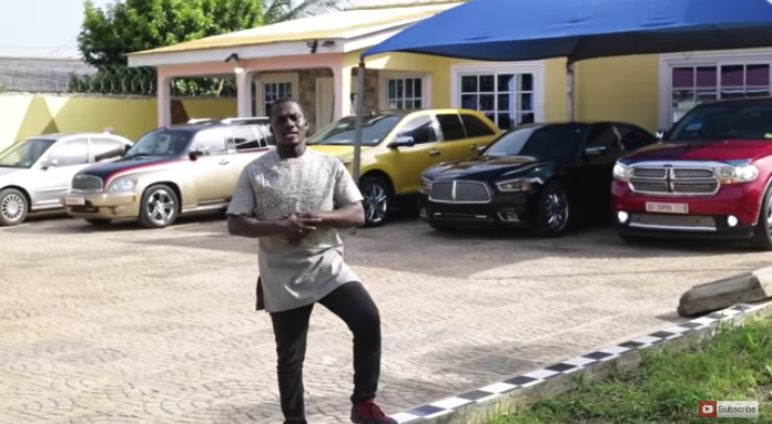 Koo Fori show Ghanaians the luxurious fleet of cars and the house he owns (Video)