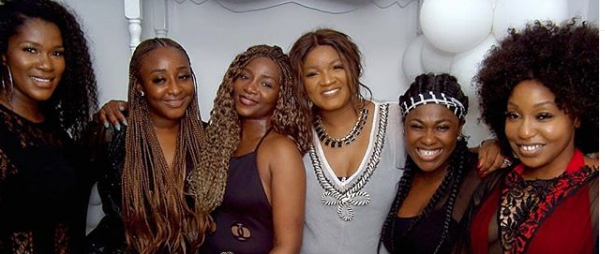 When Nollywood Big Queens Pose In One Pic, It Gives, Omotola, Ini Edo, Genevieve Naije, Rita Dominic, Stephanie Linus, Uche Jombo