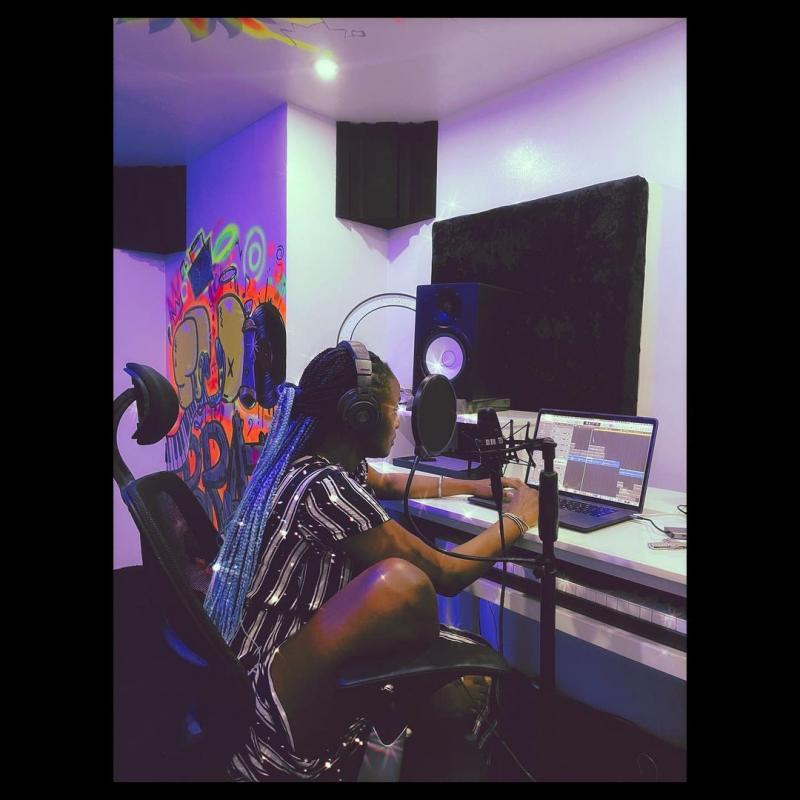 Have You Ever Caught Simi Recording A Song? Watch This Beautiful Video