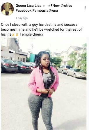 """Once A Guy Sleeps With Me, He Become Wretched For Life""- Nigerian Slay Queen"