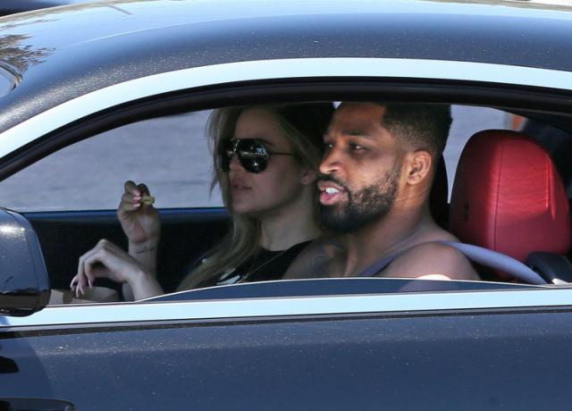 Khloé Kardashian & Tristan Thompson Grab Fast Food as It's Revealed They're in the 'Best Place'