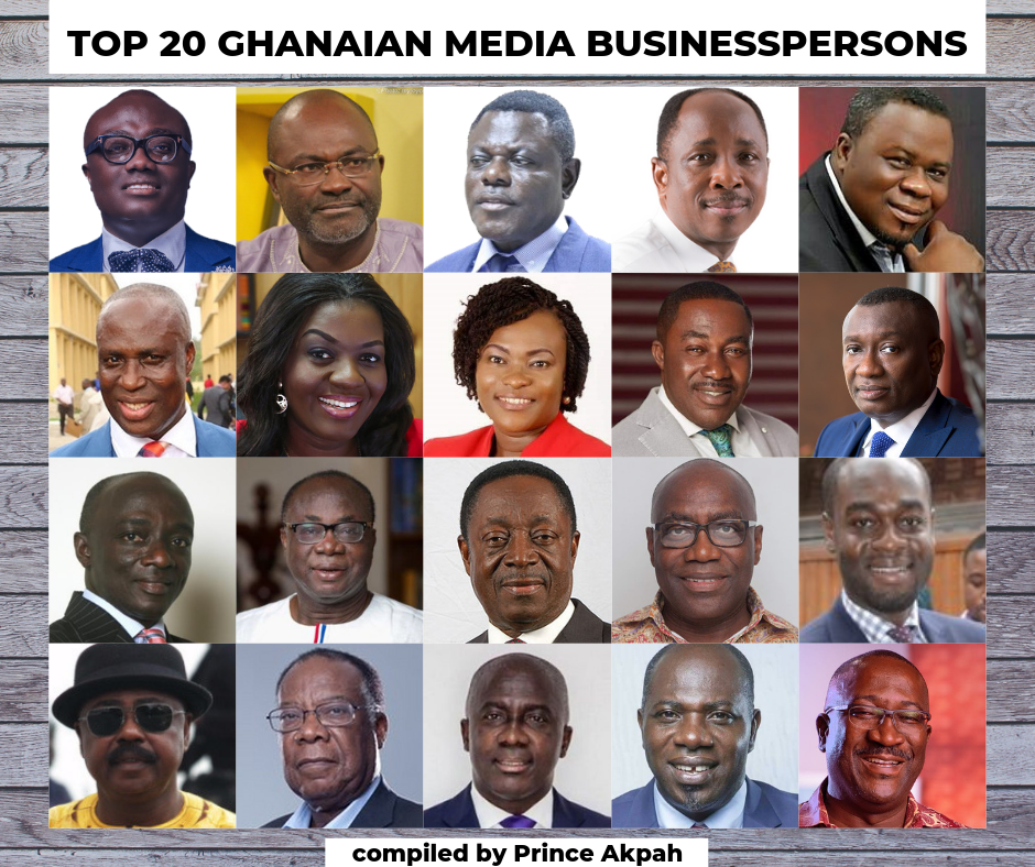 Meet the Top 20 Ghanaian Media Businesspersons