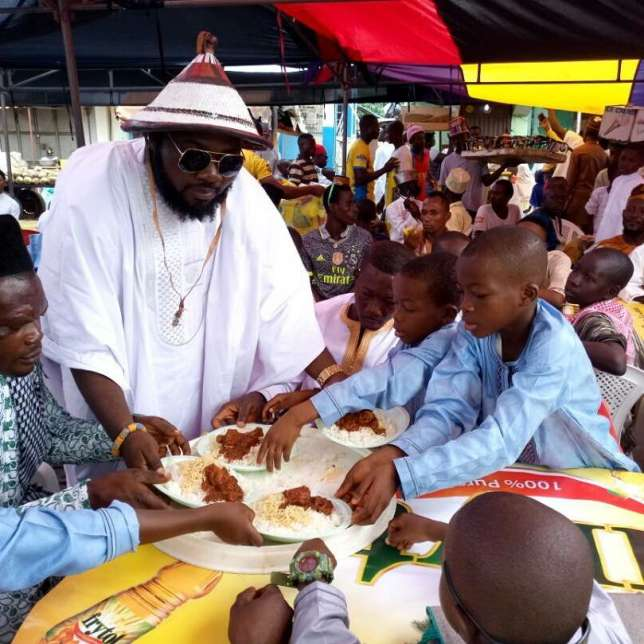 VVIP feasts with Nima kids on Sallah Day