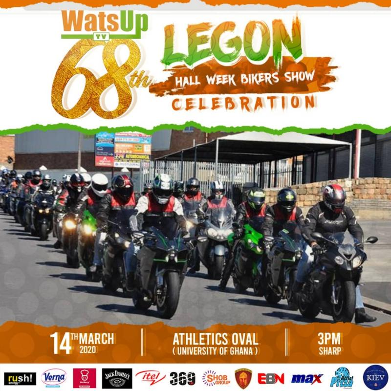 BMW Cars and Bikers Ghana to Storm WatsUp TV 68th Legon Hall Week Celebration