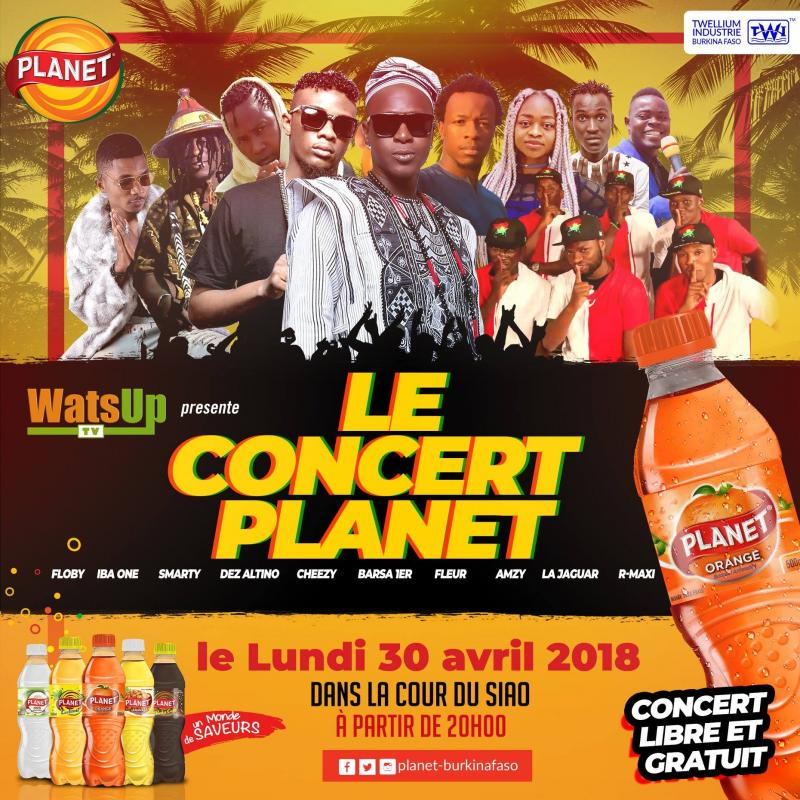 WatsUp TV in Collaboration with Twellium Industrie Burkina Presents Le Concert Planet in Ouagadougou