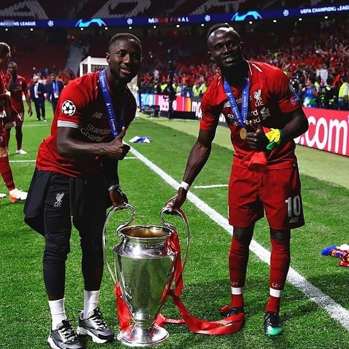 Photos That Show Sadio Mane And Naby Keita Have A Good Brotherhood In Liverpool