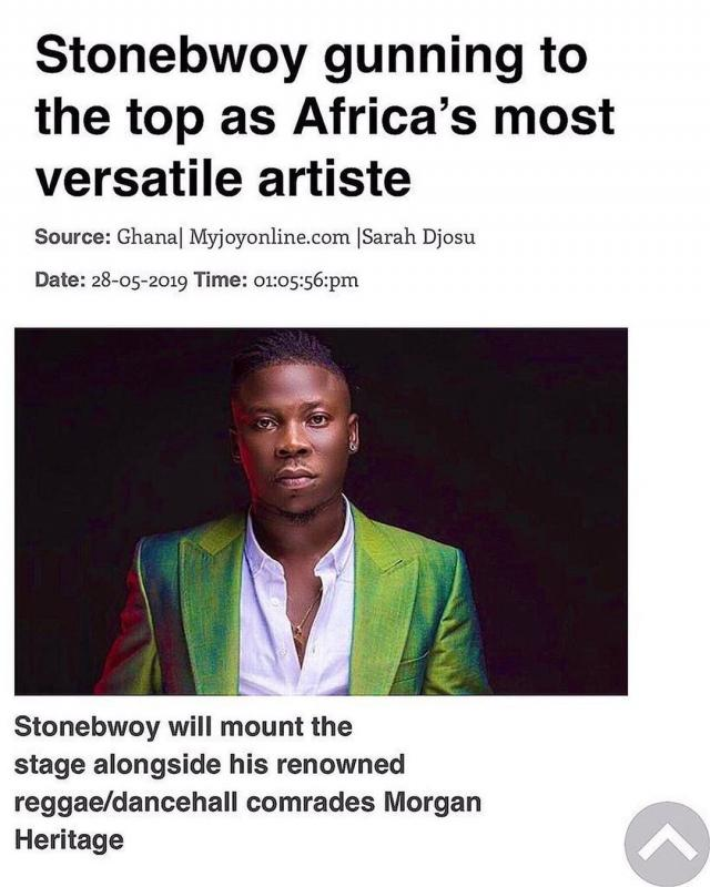 We only know of Stonebwoy in South Africa – South African event organizer