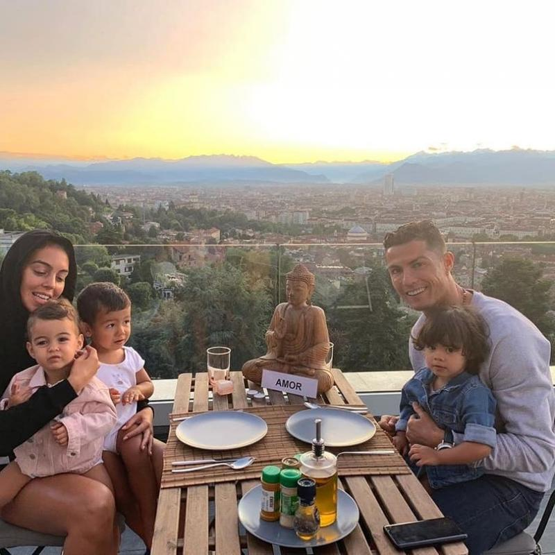 2 Iconic Soccer Stars And 2 Adorable Families; Ronaldo & Messi In 2 Pictures